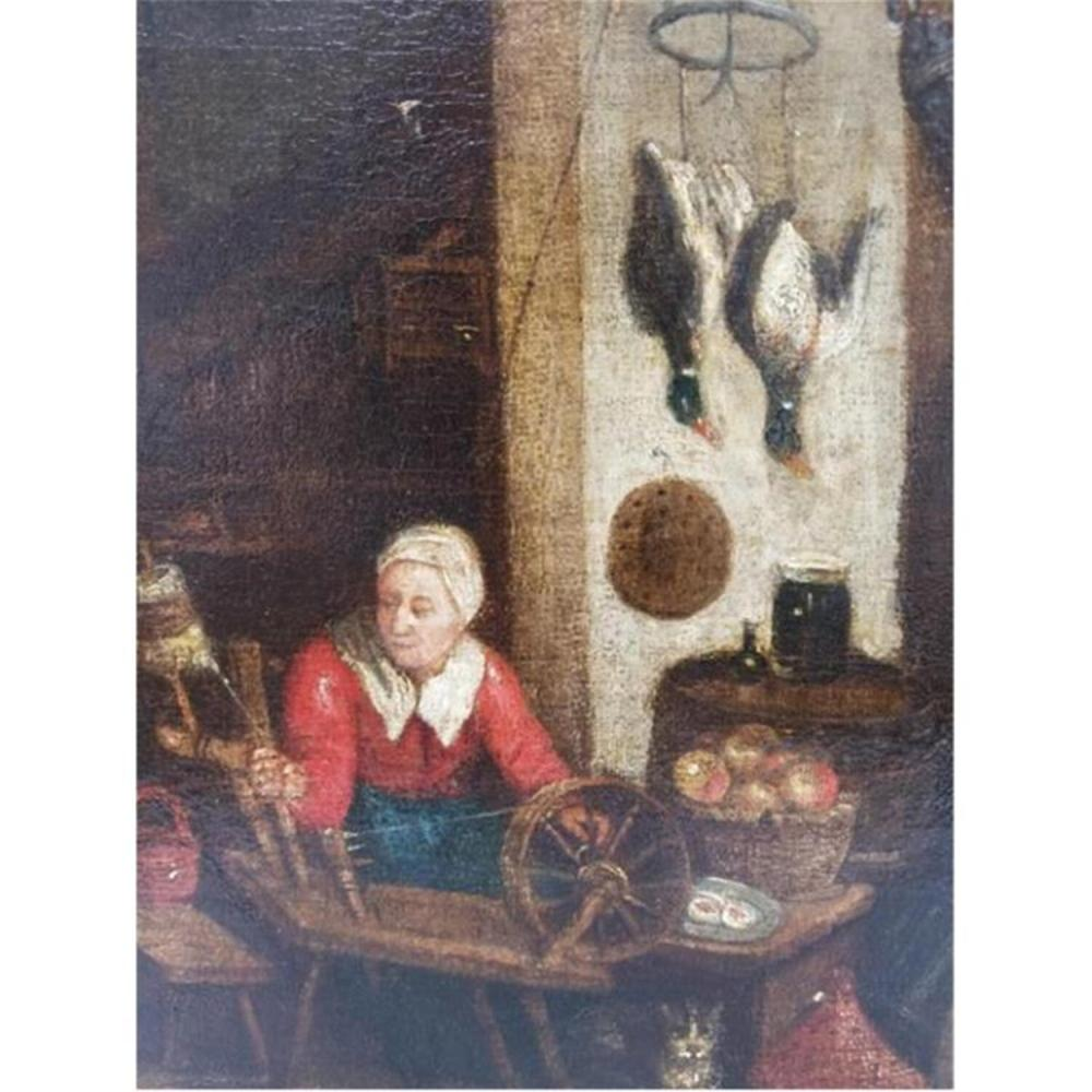 Old Master Painting Oil on Canvas After Teniers