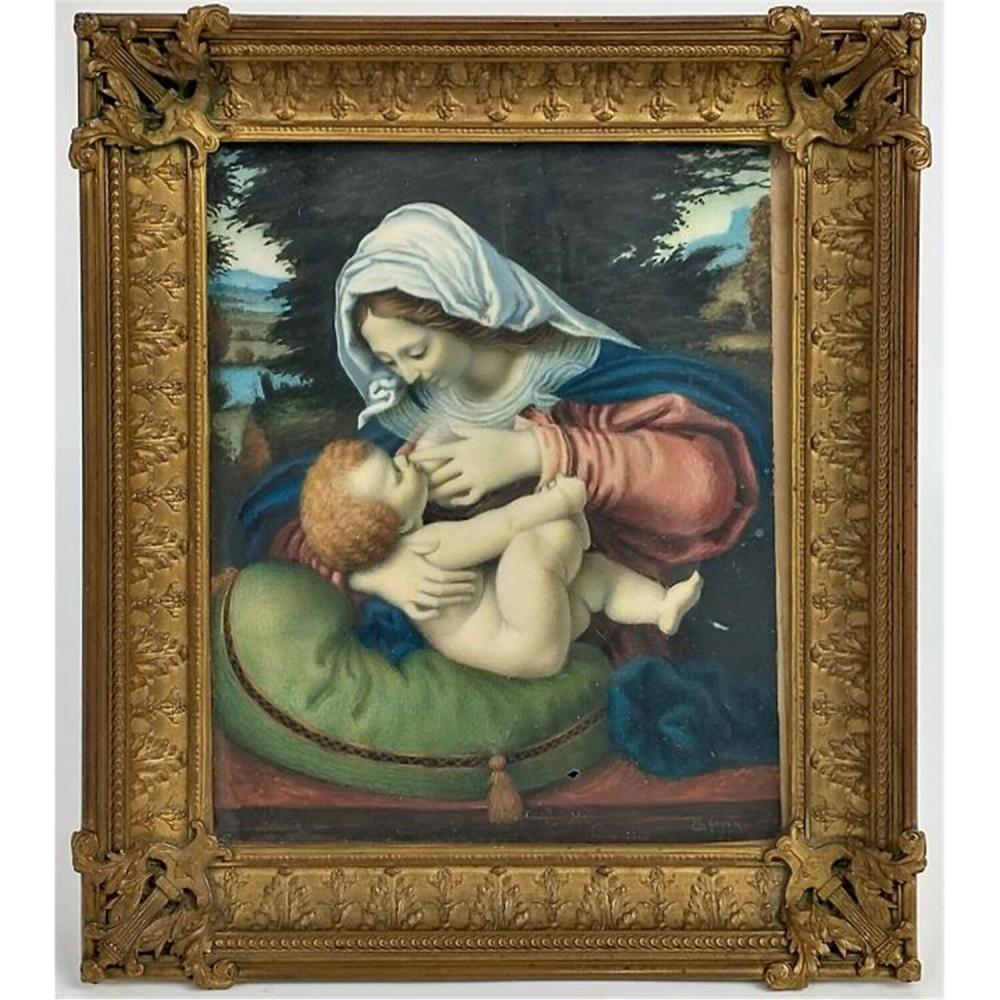 19th C. Signed Miniature Painting, Circa 1880.
