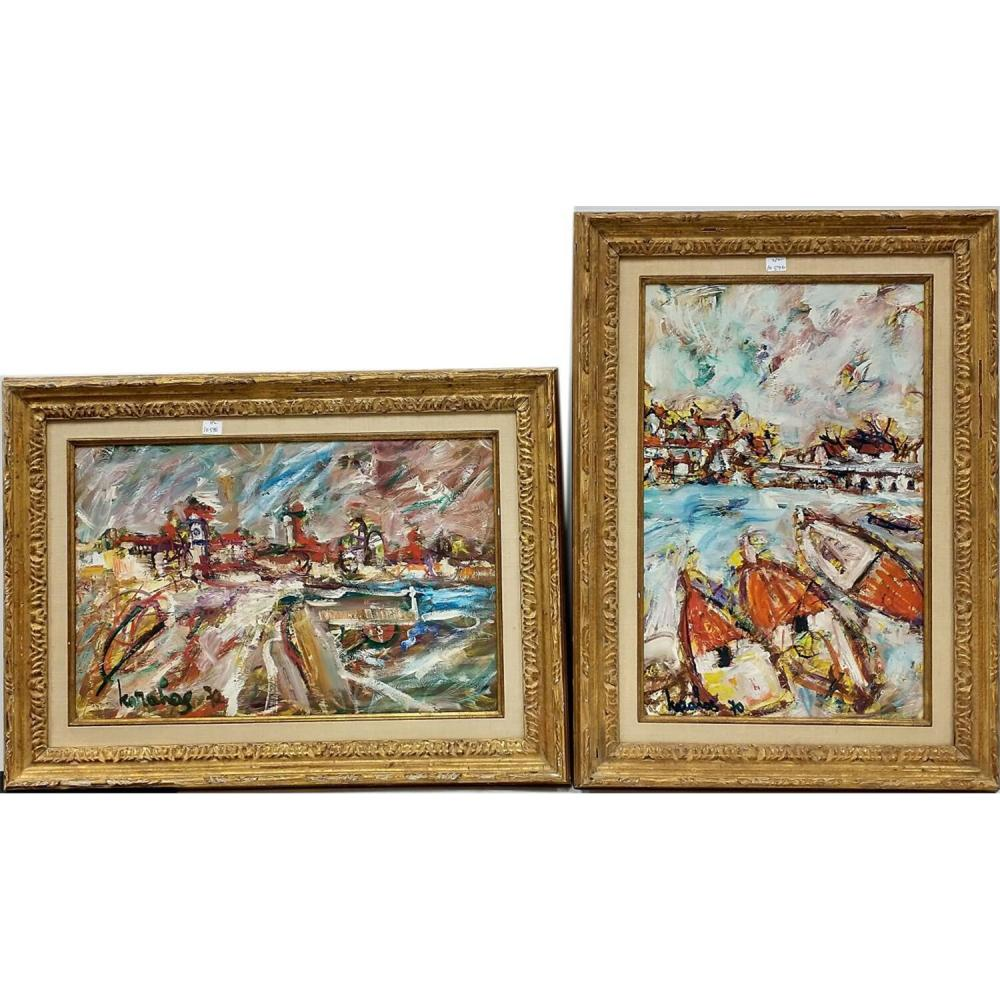 2 Paintings Oil on Board Signed & Dated Lower Left