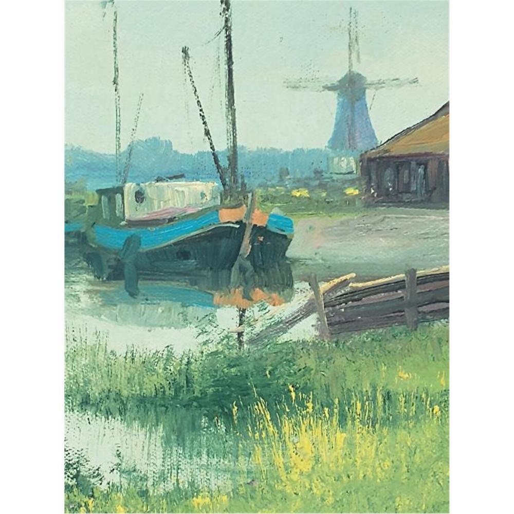 2 Paintings Oil on Board by Charles Meeuwissen
