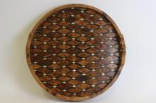 Late 18thc Early 19thc Wood & Mother Of Pearl Tray