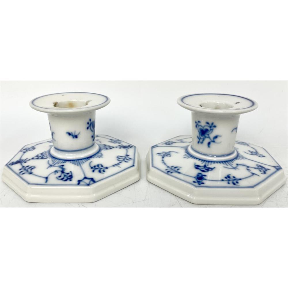 2 Royal Copenhagen Denmark Porcelain Candle Holder