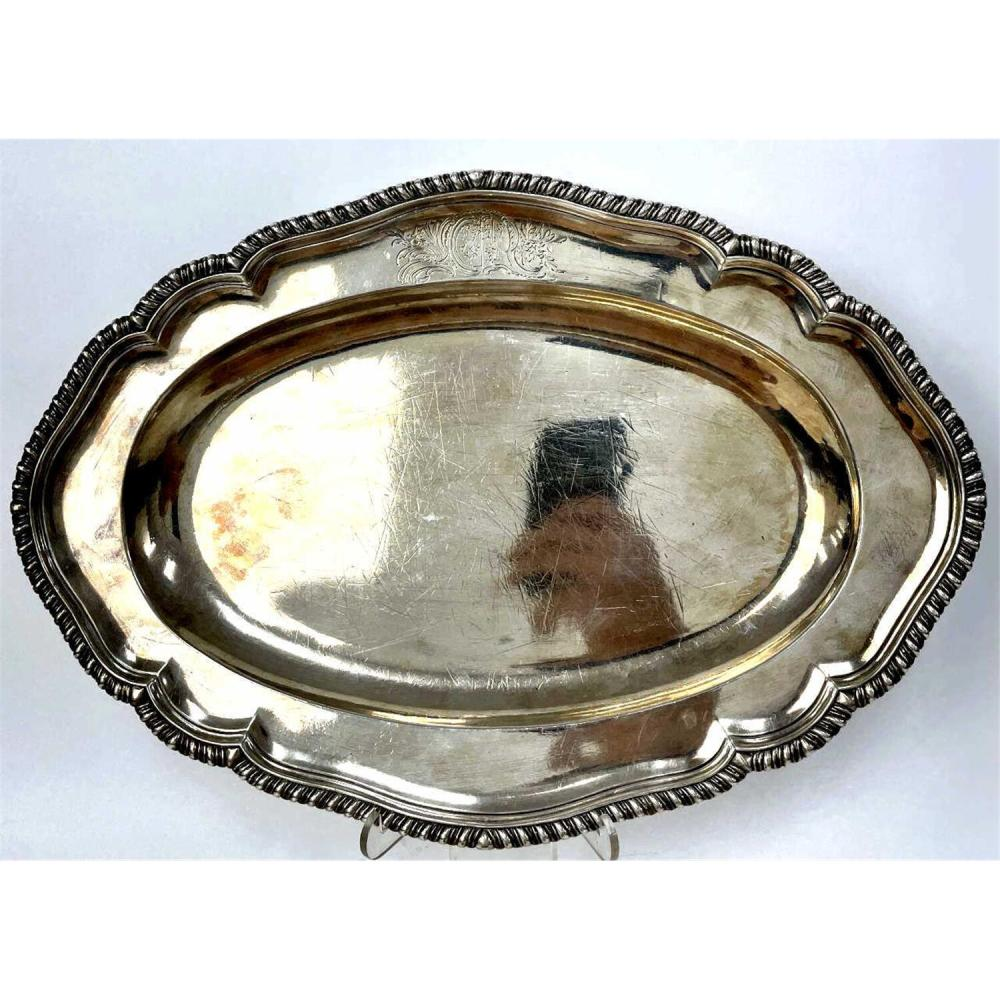 Vintage English Sterling Silver Deep Tray
