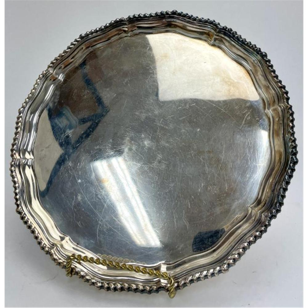 Antique English Sterling Silver Salver