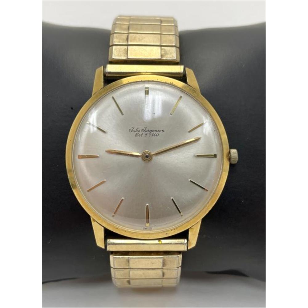 Vintage 18 Karat Gold Jurgensen Men's Watch