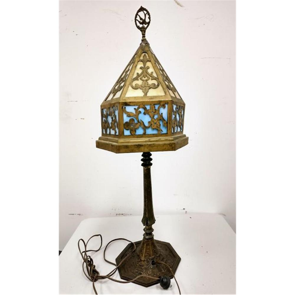 Vintage Table Lamp & Silver Plated Candelabra