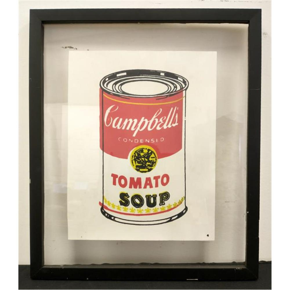 """Silkscreen on Paper, """"Campbell's Soup"""", Signed"""