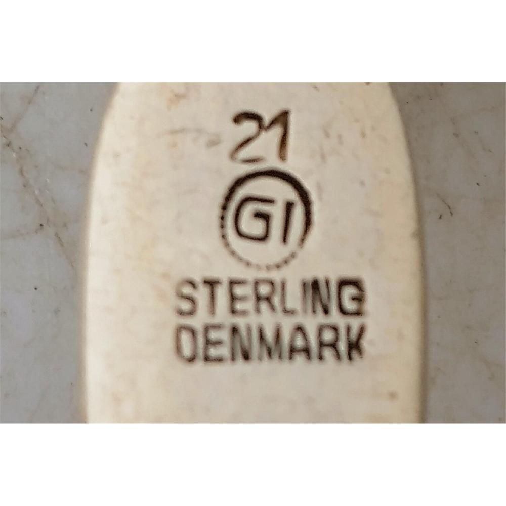 2 Georg Jensen Denmark Sterling Silver Spoons