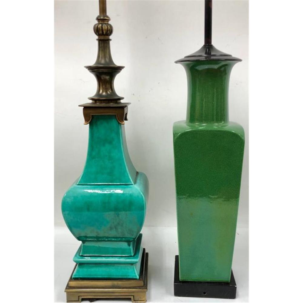 2 Old Chinese Porcelain Vases Made to Lamps