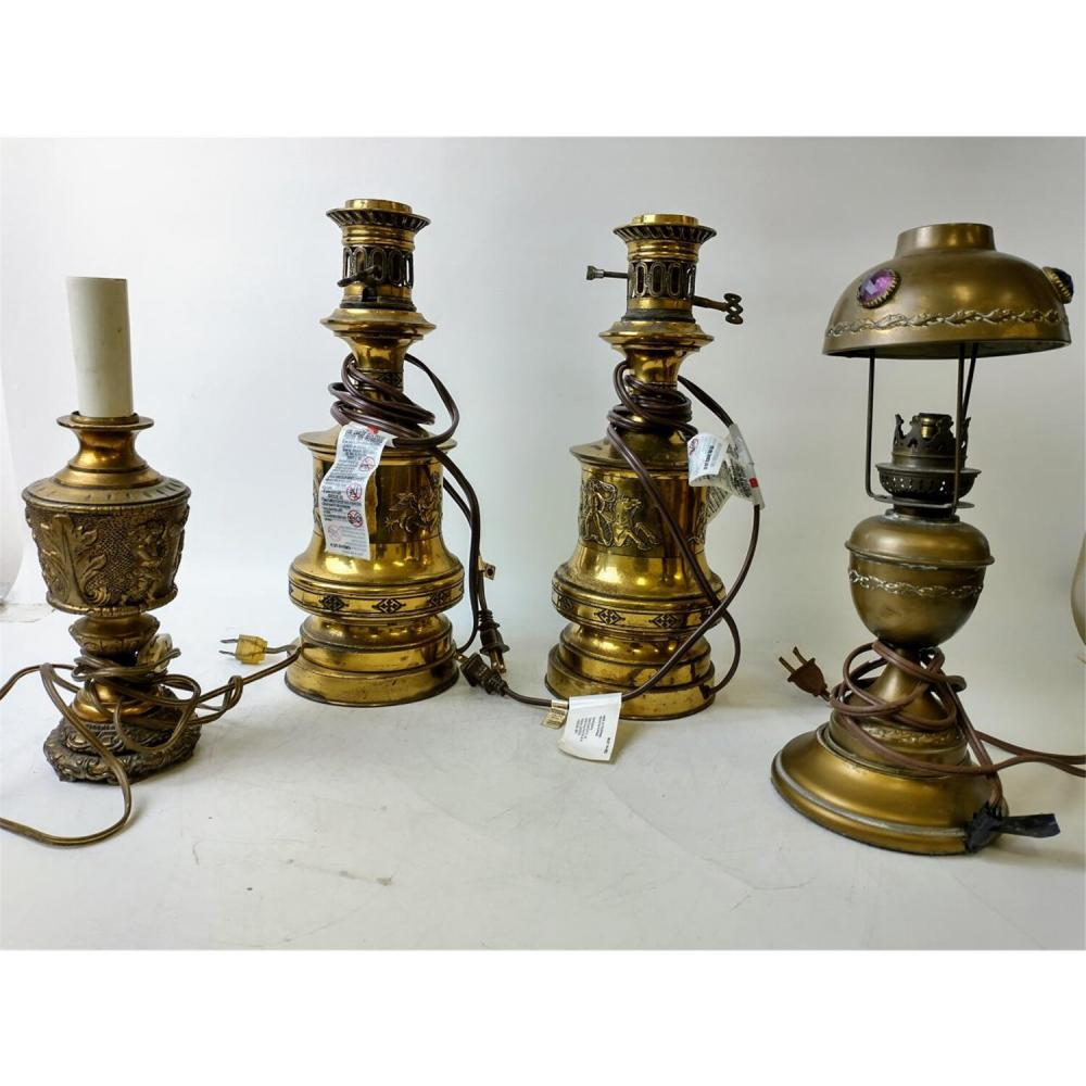 Interesting Lot of 4 Vintage Table Lamp Bases