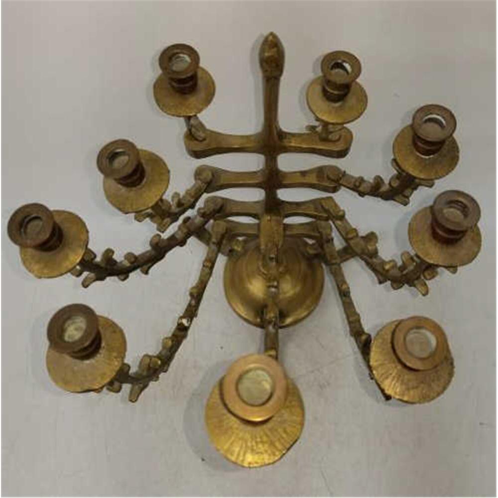 3 Unusual Judaica Mid Century Hanukkah Menorahs