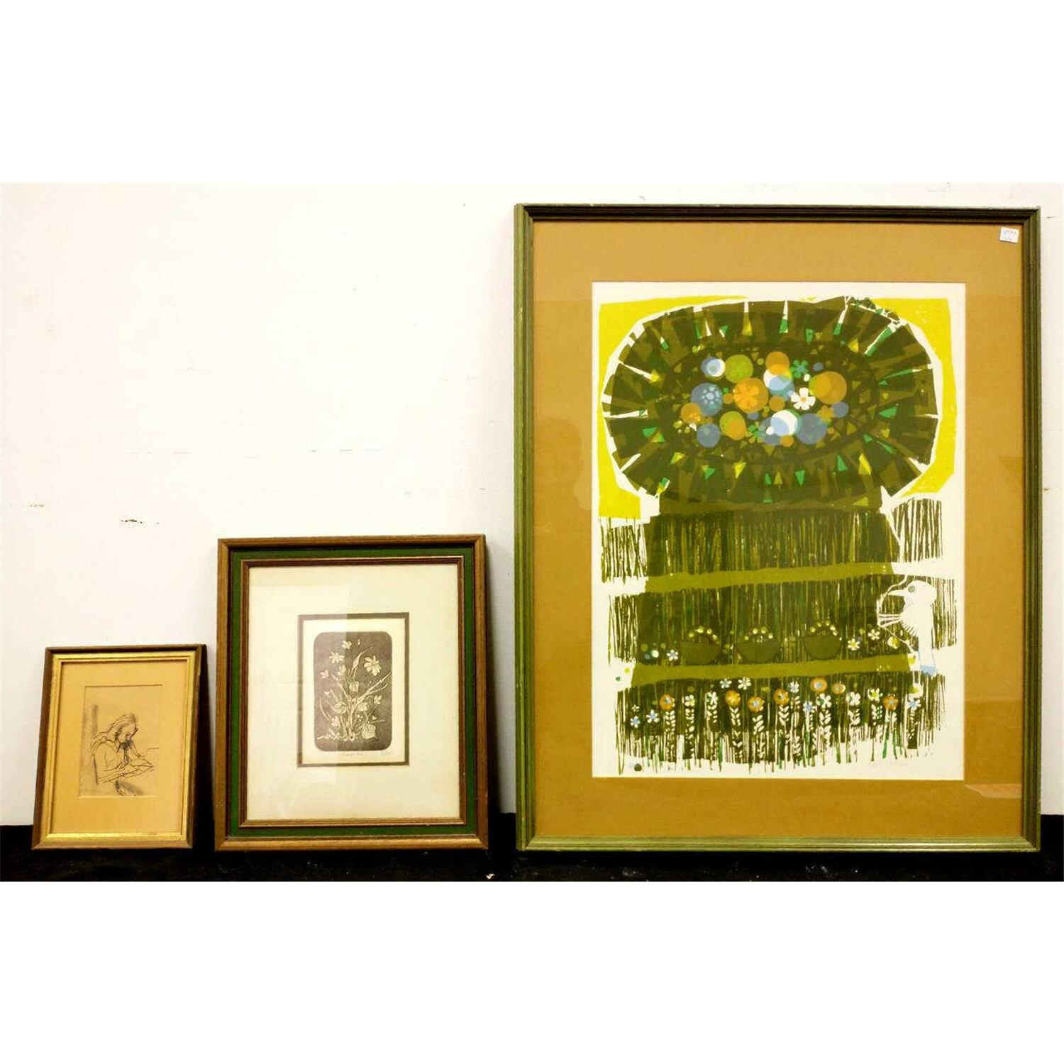 Lithograph by David Weidman Along w/ 2 Others