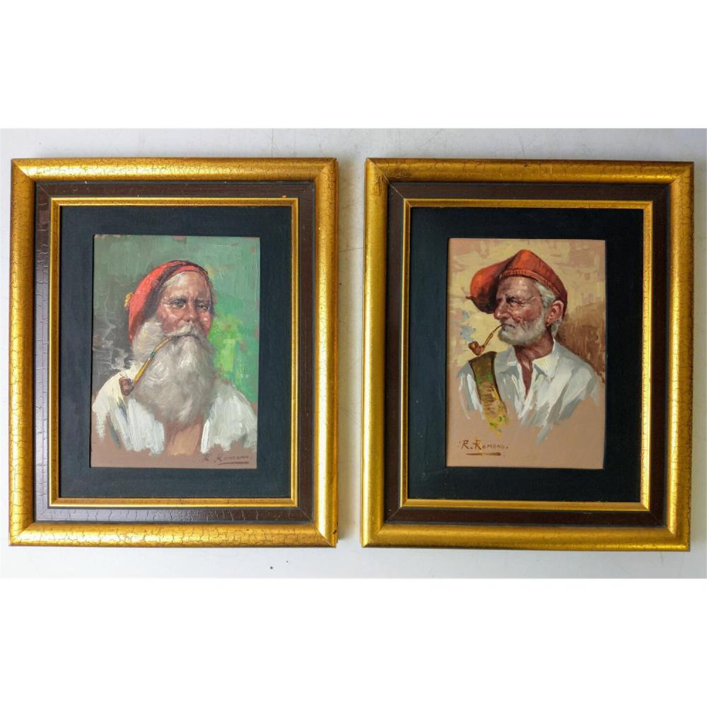 4 Paintings Oil on Board. All Signed.