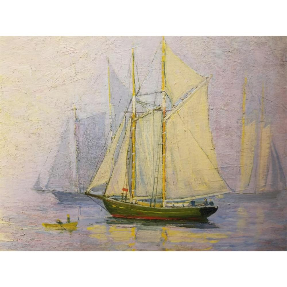 Painting Oil on Board by George A. Thompson