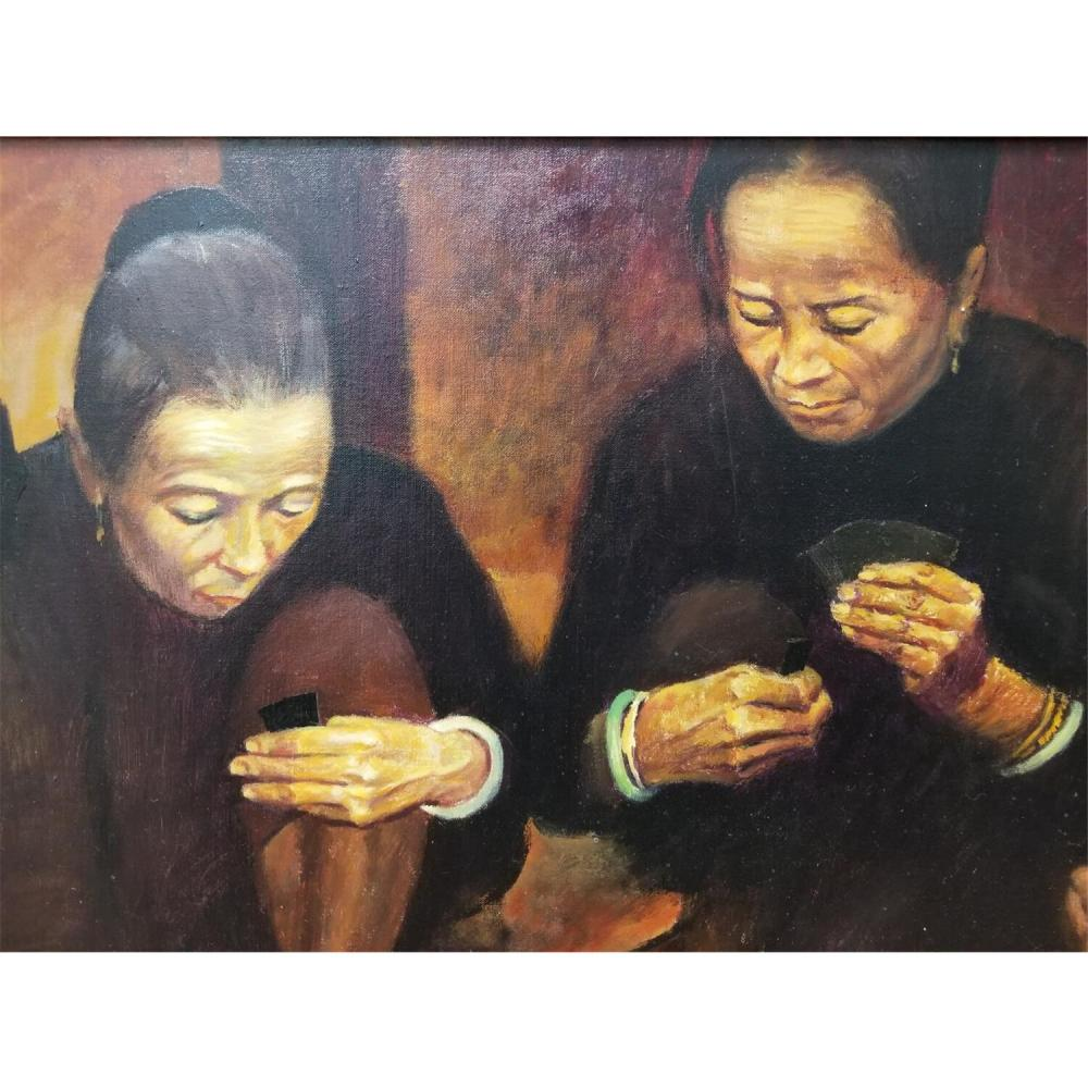 Painting Oil on Canvas by Ming Wei, Chinese