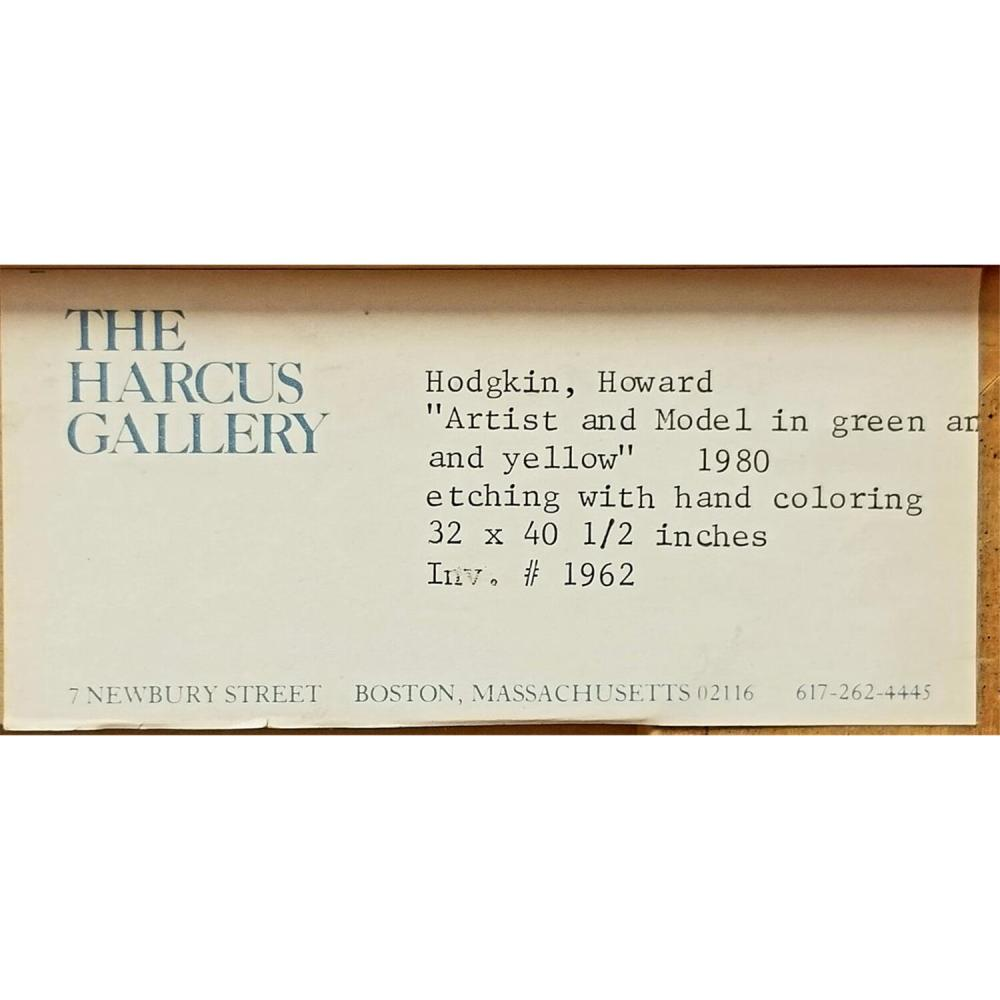 Etching by Howard Eliot Hodgkin, American