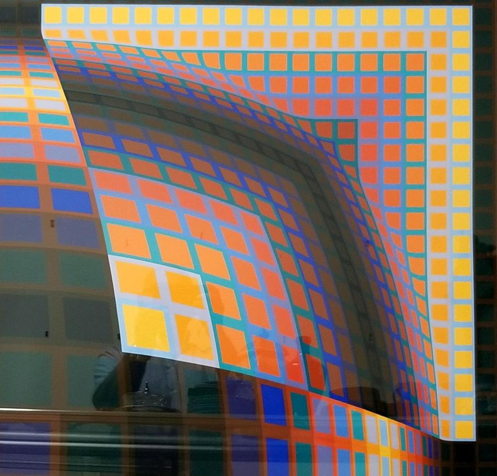 Very Large Lithograph By Victor Vasarely