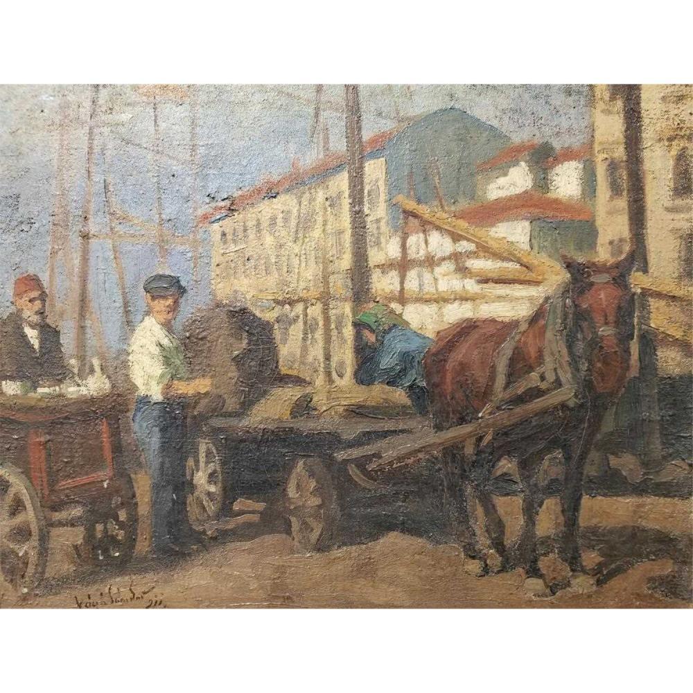 Painting Oil on Canvas by Vago Sandor