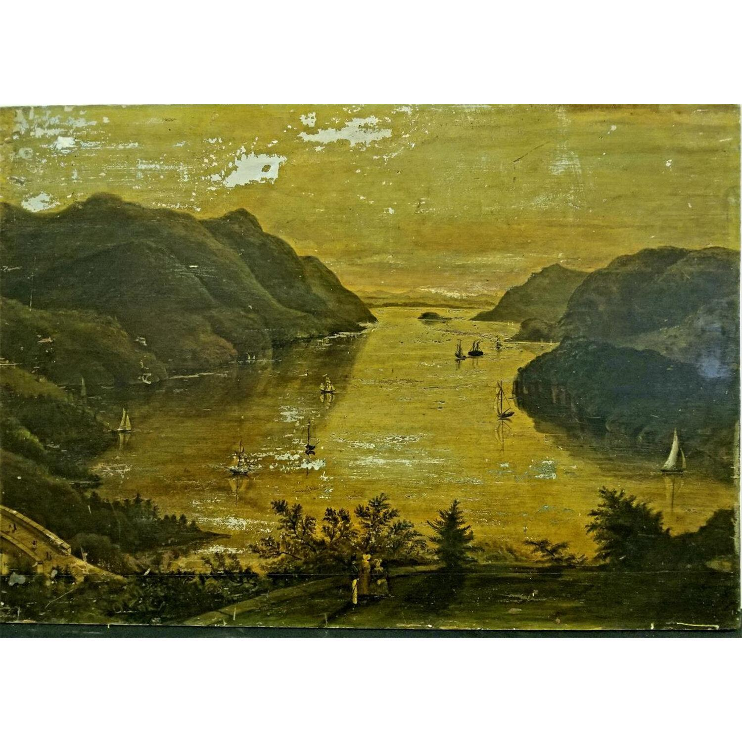 Antique Painting Oil on Board. Probably 18thC