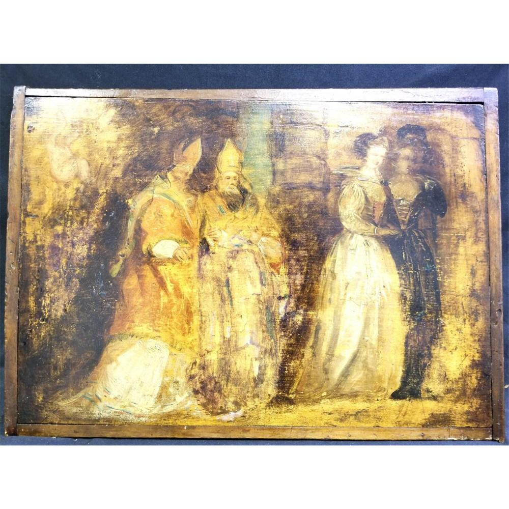 Painting Oil on Wood Probably 16 or 17thC European