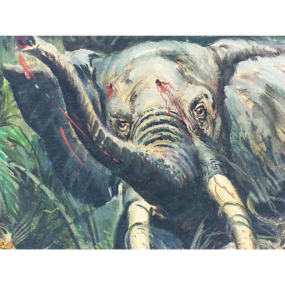 Vintage Illustration Painting Oil on Board.