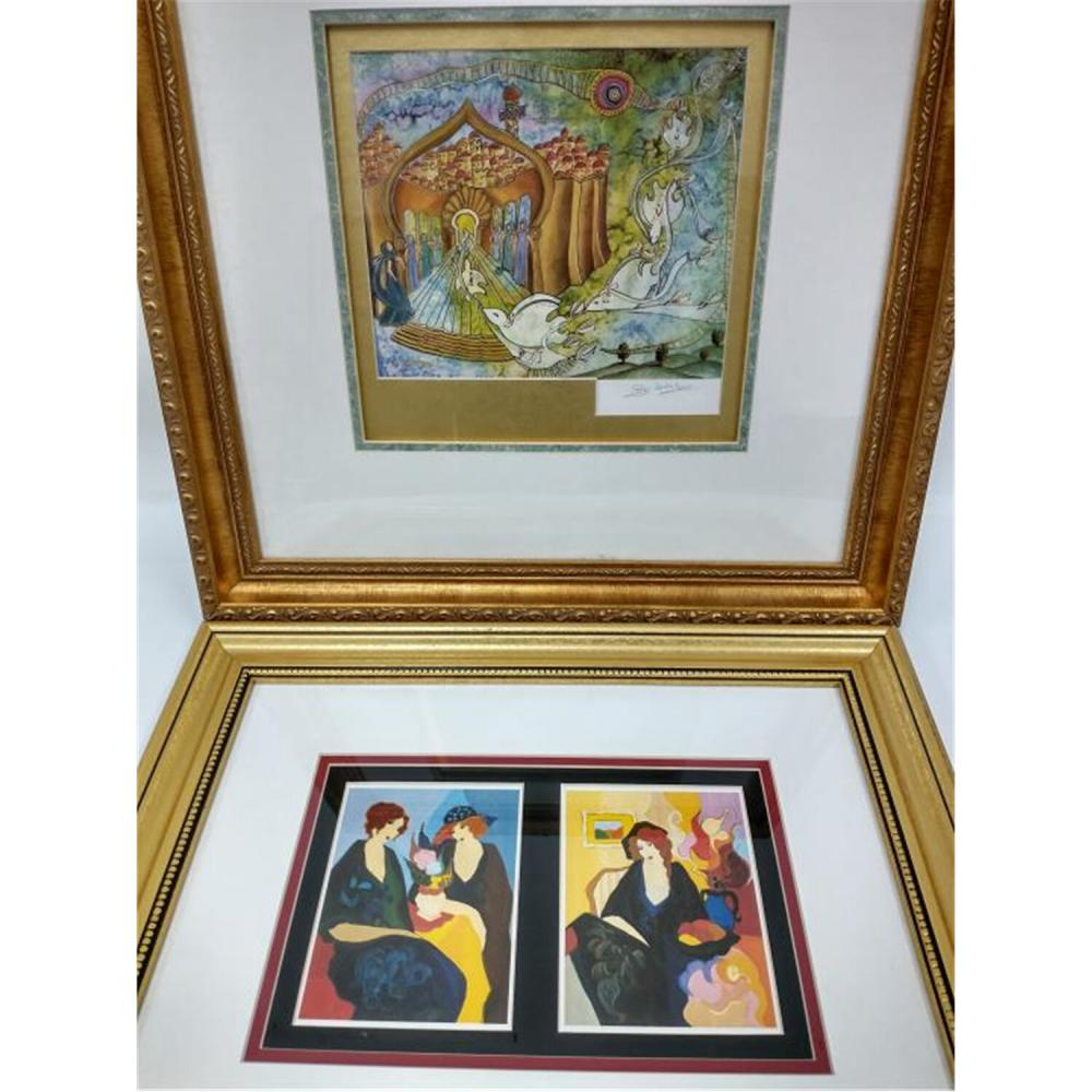 3 Signed Lithographs & 1 Painting . Tarkay and others