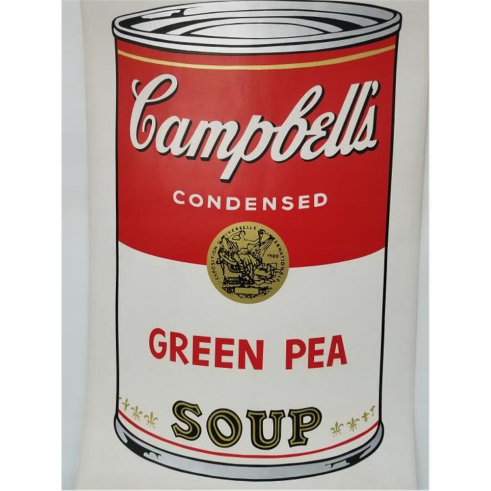 Lithograph Campbell's Soup Signed Andy Warhol.