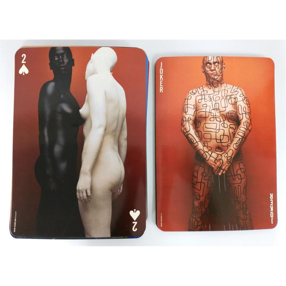 Rare NUDE MAC Make-up Large Playing Cards.
