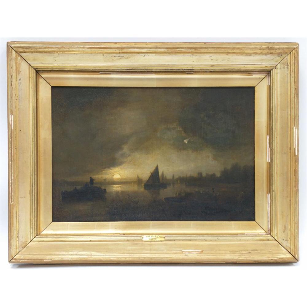 Painting Oil Attributed to Aert Vanderneer.