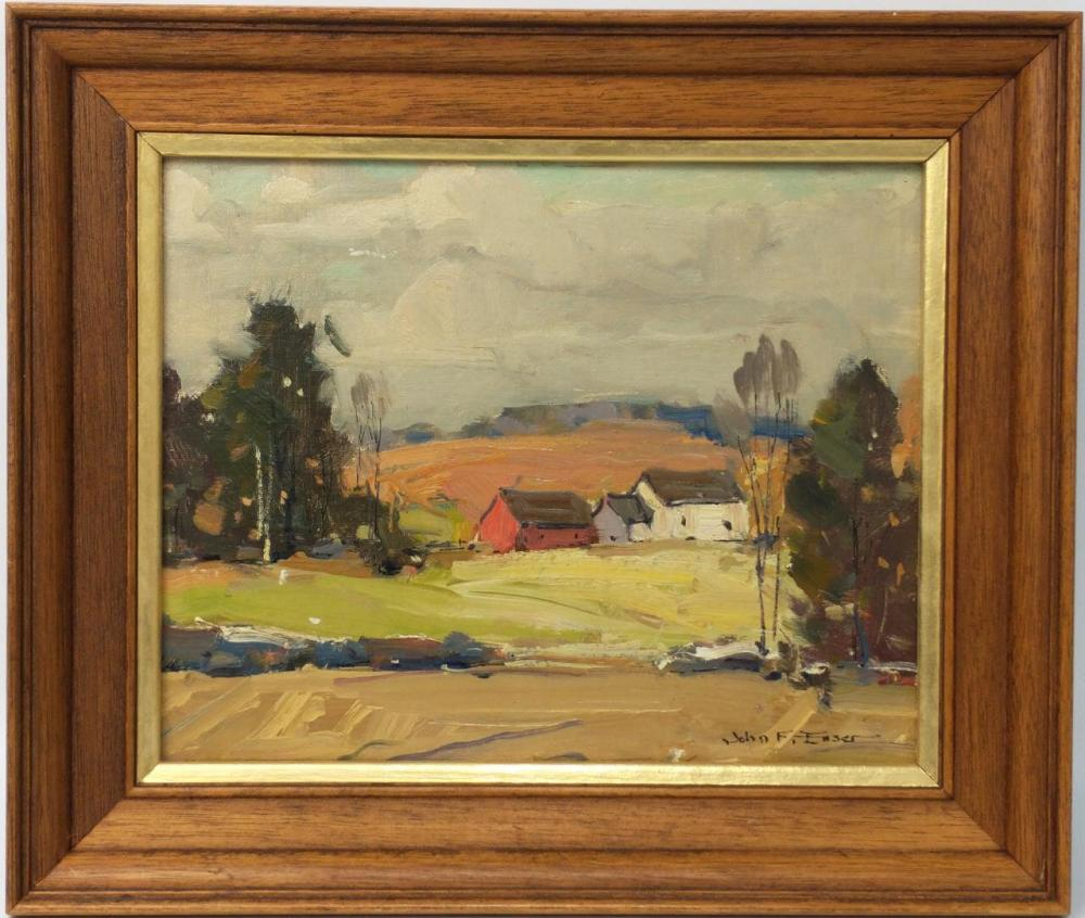 Painting Oil on Board by John Enser, American.