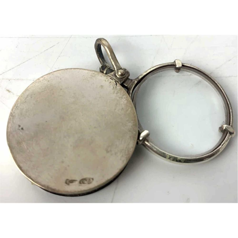 2 Sterling Silver Items - Magnifying Glass & Album
