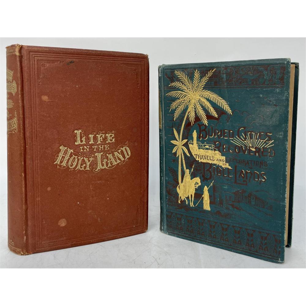 2 Antique Judaica Books,19th Century. Holy Lands.