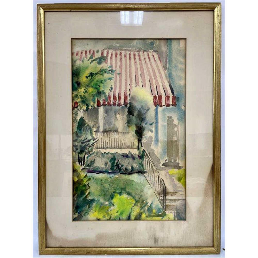 2 Watercolors on Paper. One by Hy Cohen
