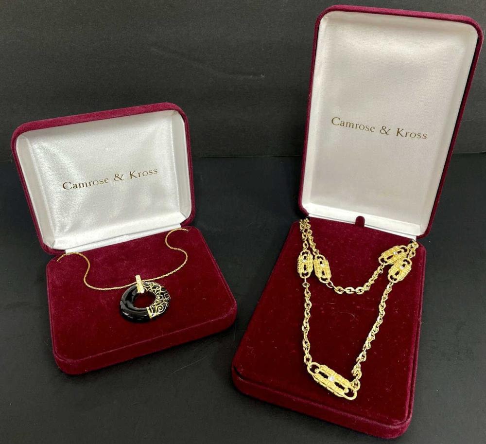 2 Camrose & Kross Necklaces. Jackie Kennedy Style