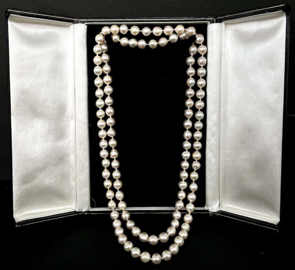 2 Cultured Baroque Pearl Necklaces