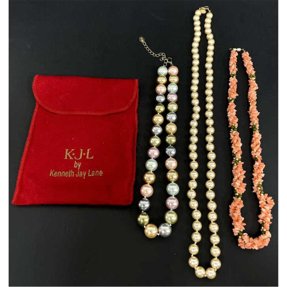 3 Necklaces, Incl. Kenneth J. Lane & Joan Rivers