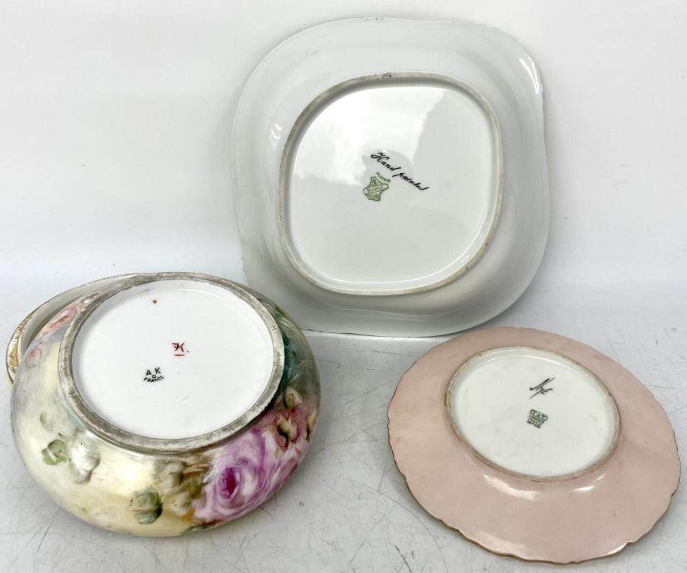 3 Pcs. Antique Limoges French & Austrian Porcelain