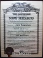 1940 Appointment Document from New Mexico Governor John Miles to Jack Borenstein