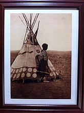 Piegan Child and Her Tepee