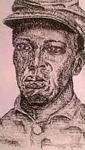 Buffalo Soldier, Original Drawing by Darnell Bolton