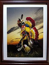 Lakota Performing a Tribal Dance