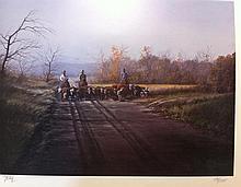 Ranchmen herding cattle, by Jerry Yarnell