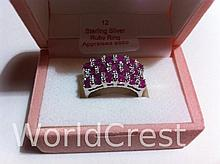 Sterling Silver Ruby Ring-R-#12