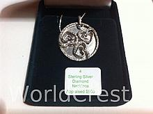 Sterling Silver Diamond Pendant with Chain-R-#4