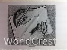 Drawing hands by M. C. Escher