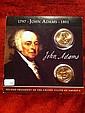 John Adams Dollar; two dollars set John Adams Dollar; two dollars set with history in original package