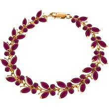 Genuine 16.5 ctw Ruby Bracelet Jewelry 14KT Rose Gold - REF-221M3T