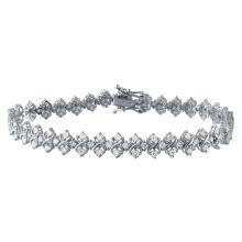 Genuine 3.05 CTW Diamond Link  Bracelet in 18K White Gold - REF-284X3W