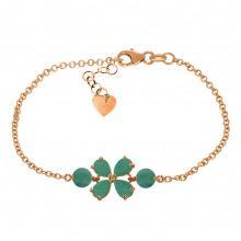 Genuine 3.15 ctw Emerald Bracelet Jewelry 14KT Rose Gold - REF-71R9P