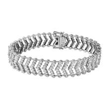 Genuine 7.6 CTW Diamond Straight  Bracelet in 18K White Gold - REF-799Y2V